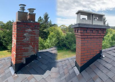 Red Chimney renovation Before & After