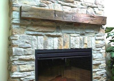 Natural Stone Interior Fireplace by Orca Masonry
