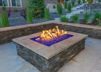 Natural Stone Veneer Outdoor Fireplace in Victoria